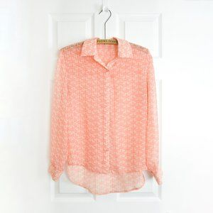Max C Button Up Patterned Blouse